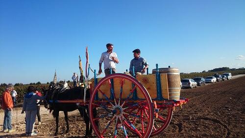 Puglia ouderwetse carro voor oogst