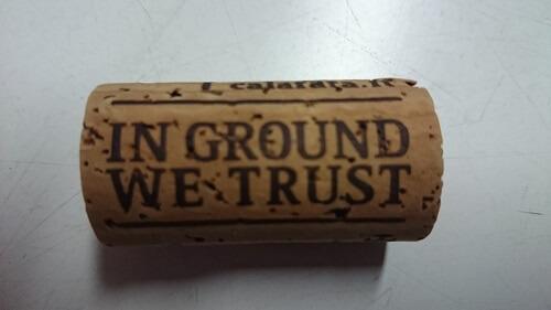 kurk met tekst in ground we trust