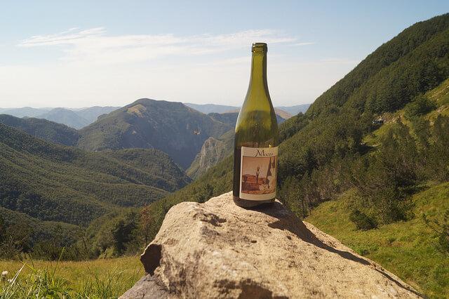 Macea bewijs wijn op de berg