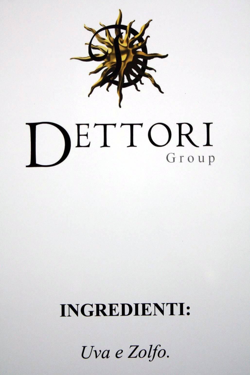 Dettori en de ingredienten druif en zwavel